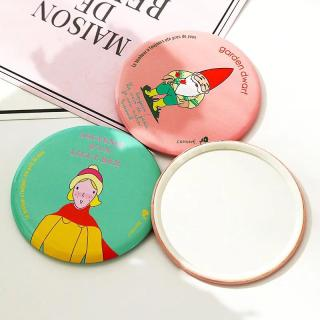 Tokoready - Cermin Bulat Karakter Kaca Cermin Make Up Mini Travelling Motif Kartun Colorful R029 thumbnail