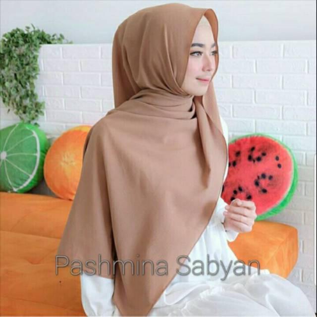 Jilbab Pashmina Sabyan Diamond Italiano Hijab Segi Empat Hijab Panjang Kerudung Coklat Lazada Indonesia