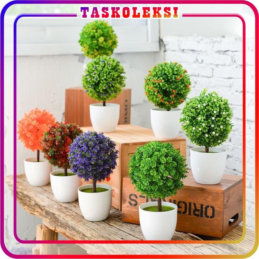 Rp 17.213. TK - Tanaman Bonsai Hiasan Buatan Bentuk Bola Pot Bunga Untuk Dekorasi Rumah Ruang Tamu ...