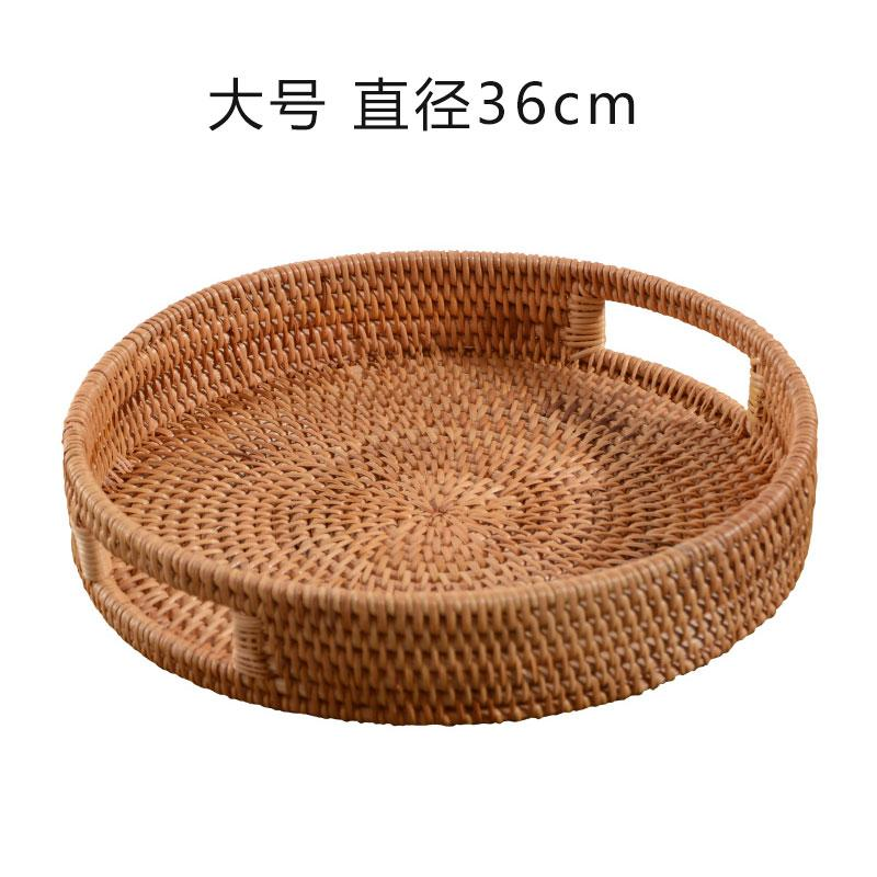 Of, Viet Nam Autumn Vine Rattan Japanese Style Nordic Decorative Fruit Plate Living Room Teapoy Table Decoration Plate Water Fruit Bowl