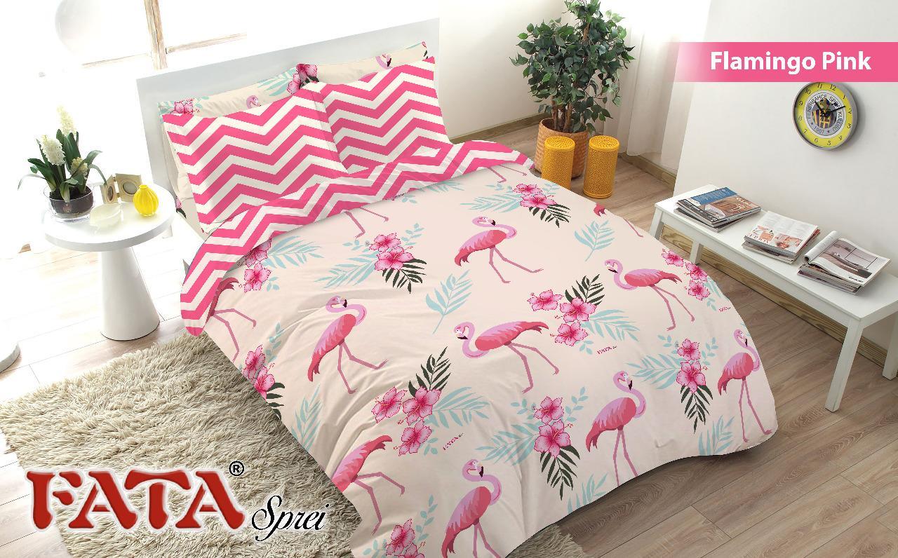 FATA- Bed Cover King set Flamingo Pink