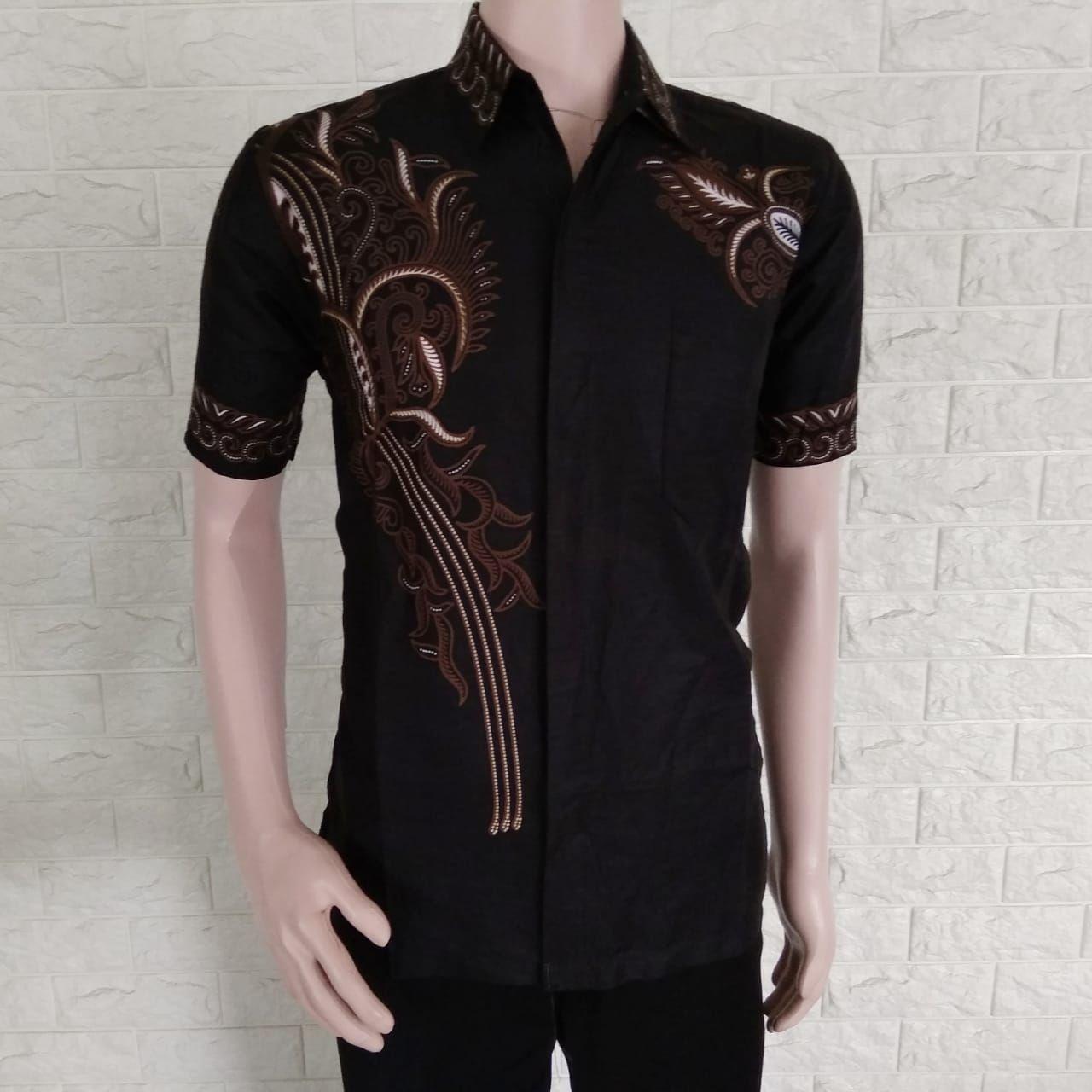 Baju Batik Pria Lengan Pendek Kombinasi / Baju Batik Pria Casual Modern Termurah / Batik Pria