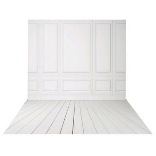 3x5ft Vinyl Photography backdrops White Brick Wall wood floor wedding background for photo studio thumbnail