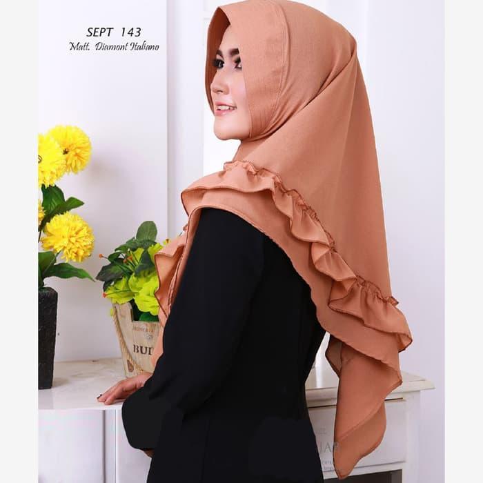 Jilbab/Hijab/Kerudung Instan Daffi 2 Layer Bubble Crep Termurah / DZA Laris Fashion