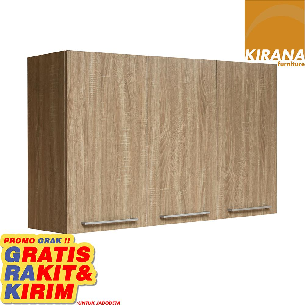 Kirana Kitchen Set Denver Lemari Atas 3 Pintu By Kirana Furniture.