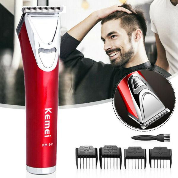 Jiuch Kemei KM-841Barber Professional Hair Clipper LCD Display 0mm Baldheaded Beard Hair Trimmer for Men DIY Cutter Electric Haircut Machine