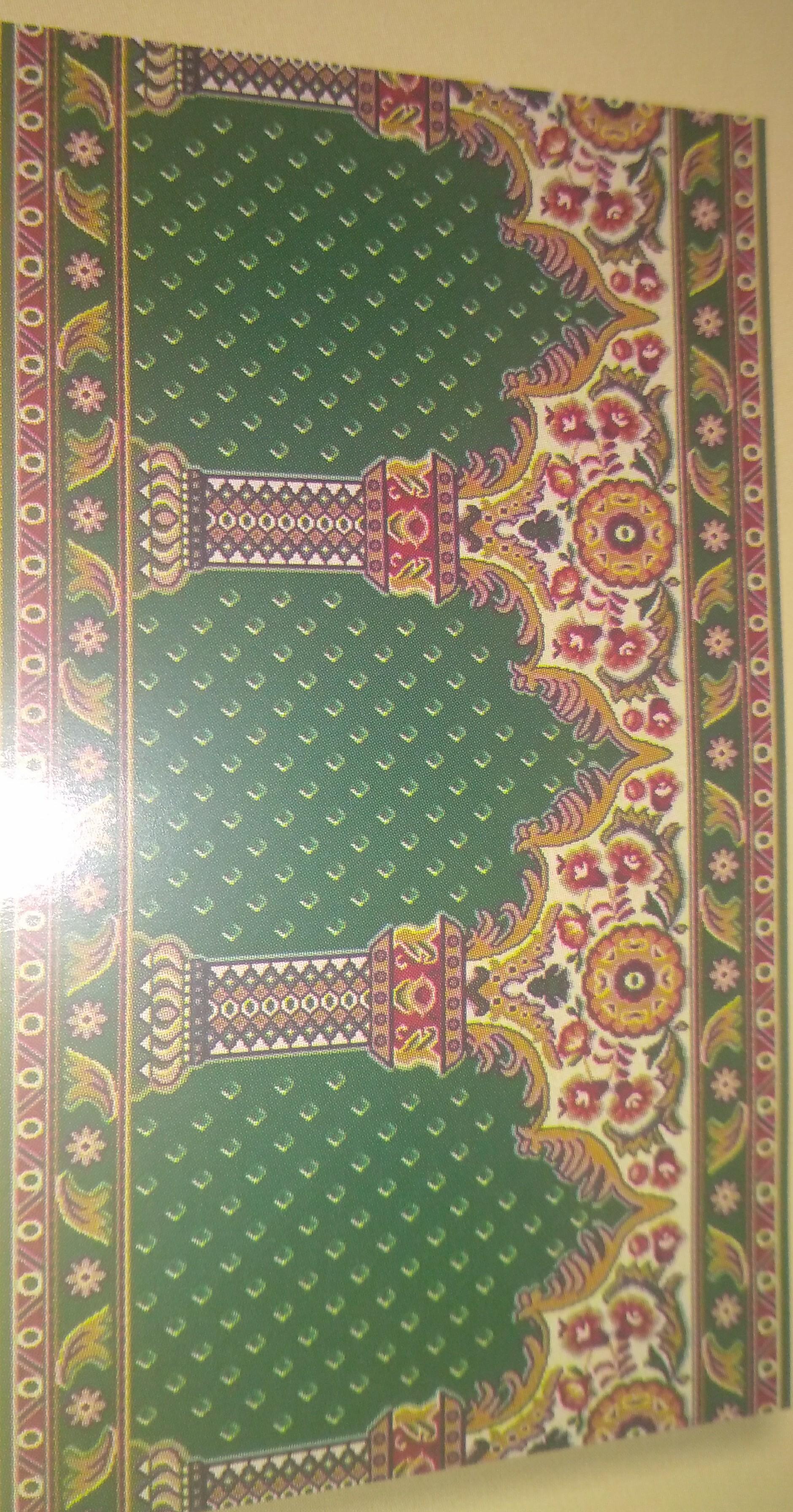 karpet sajadah kingdom buat mosholla atau masjid anda lebih berwarna