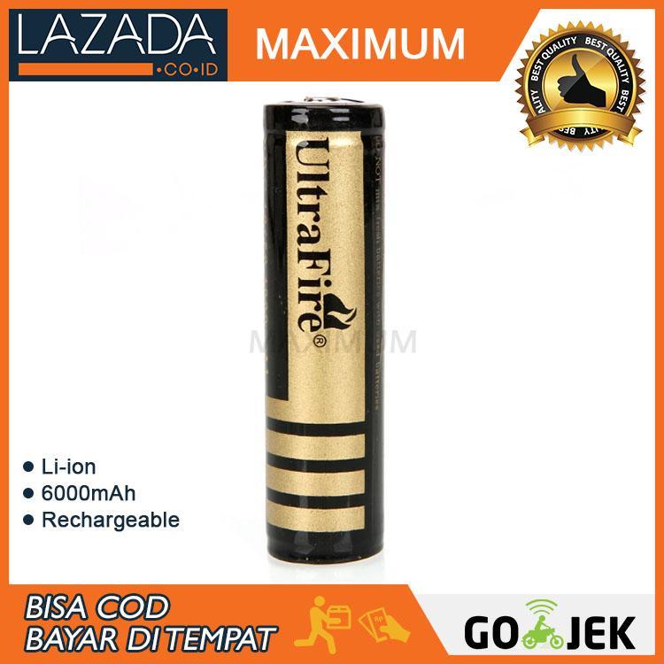 UltraFire Baterai Li-ion 18650 Protection Board 6000mAh 3.7V Button Top - BRC 18650