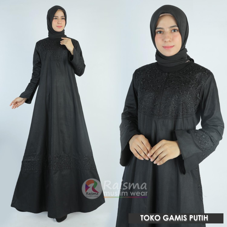 Gamis Abaya Arab Hitam / Gamis Hitam / Gamis Hitam Polos / Gamis Warna  Hitam / Baju Gamis Hitam / Gamis Hitam Raisma / Gamis Abaya Hitam / Gamis  Syari