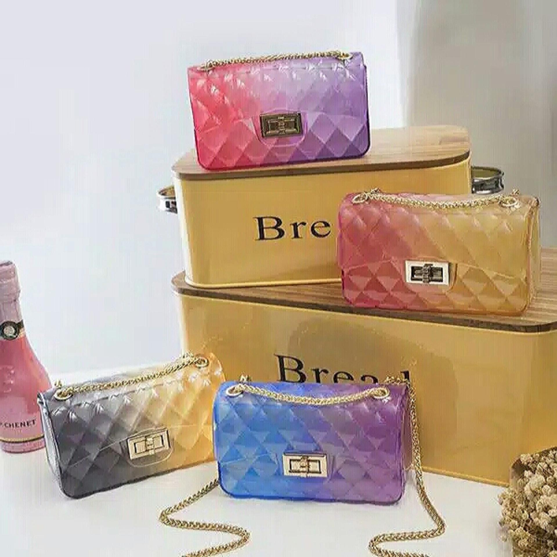 jaya shop tas jelly pelangi-tas wanita-tas selempang-tas fashion import-