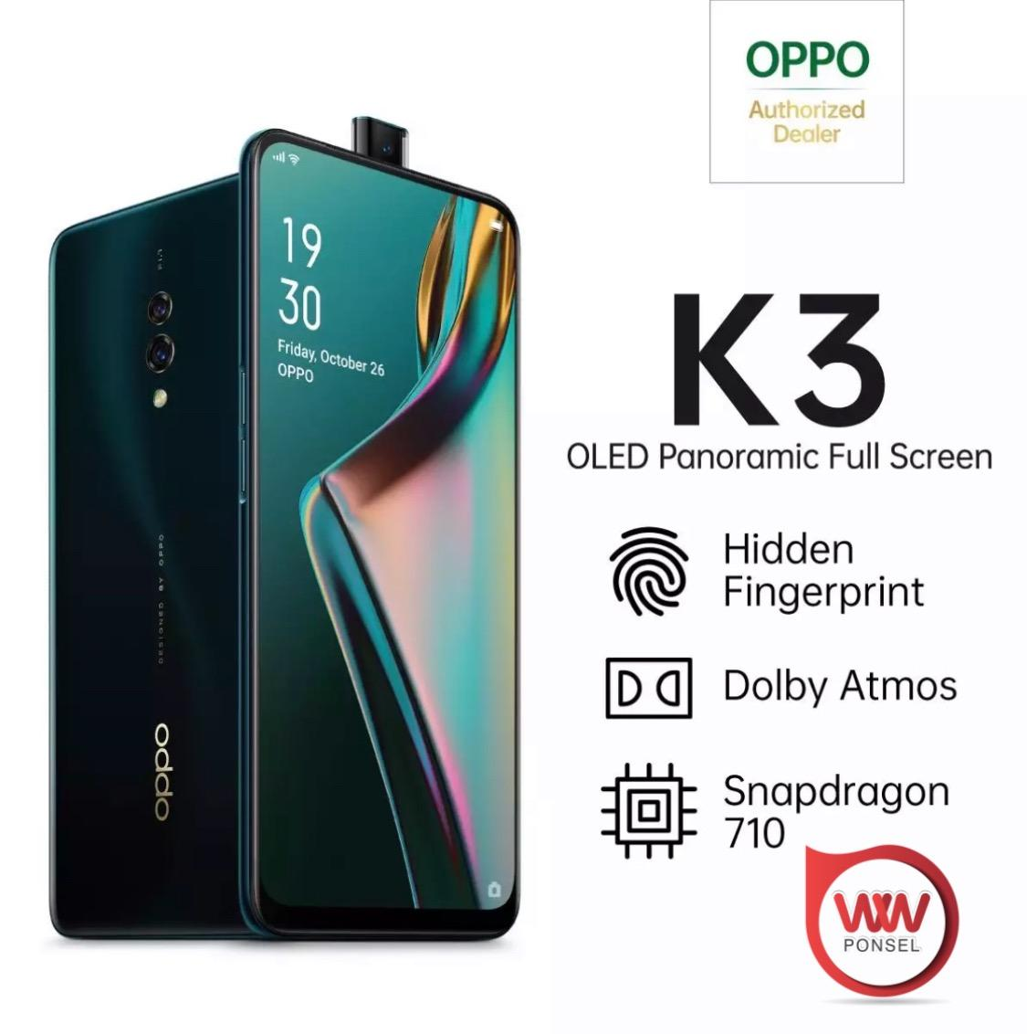 OPPO K3 Special Online Edition 6/64GB OLED Panoramic Screen, Cicilan 0%,