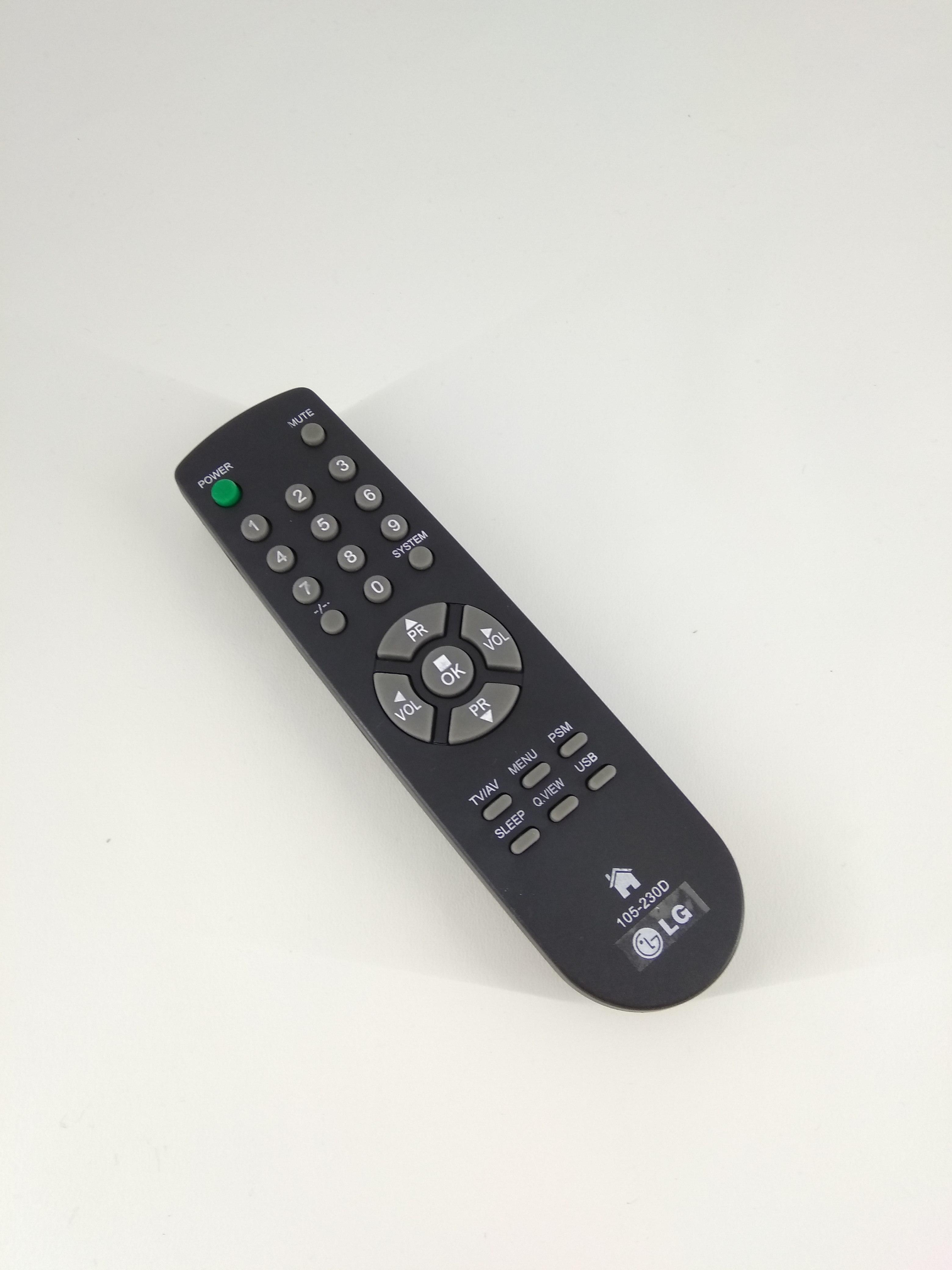 Remot Remote TV LG Tabung 105-230D Original Pabrik / KW