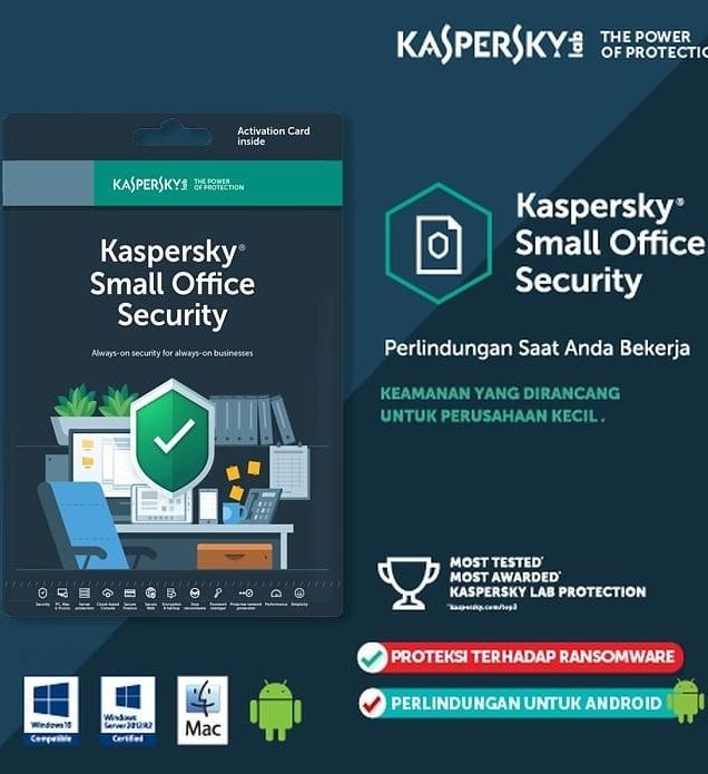 Kaspersky Small Office Security 10 Devices + 1 By Kaspersky Distributor Resmi.