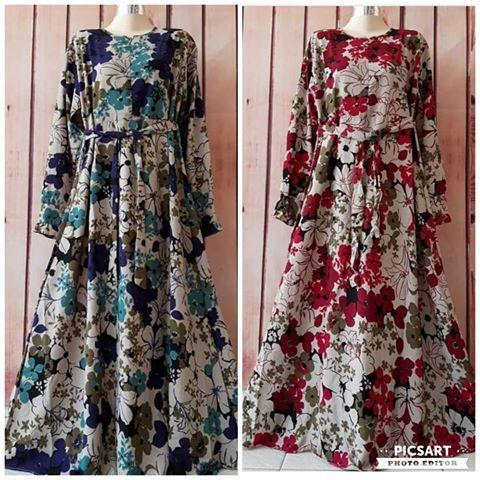Labelledesign Baju Wanita gamis andara Original Muslim Suplier #594 MAXI, REALPICT MOSCREPE MIX MONALISA
