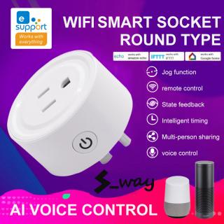 Ổ Cắm Thông Minh Mini Liên Kết Wifi S_way, Ổ Cắm Điều Khiển Bằng Giọng Nói, Có Công Tắc Điện 10A, 110-125V, Dễ Dàng Sử Dụng thumbnail