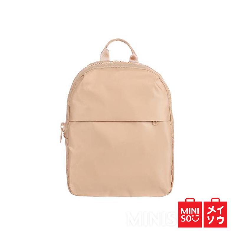 Miniso Official Fashionable Backpack Apricot (4199 MN) f845792a52
