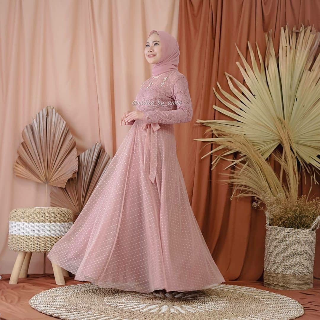 ELIZA Dress Modern / Baju Gamis Trendy Wanita Muslimah Terbaru 2020 Terlaris Termurah Bahan Kualitas Terjamin / Tunik/Dress/Brukat/Kebaya Wisuda/Gaun Pesta/Gaun Remaja Trendy Kekinian 2020 /Terlaris termurah