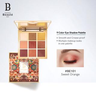 Premiere beaute Pb BATIK 9 Color ALL-in-one EyeShadow Palette easy to wear Matte pigmented Eye shadow powder thumbnail