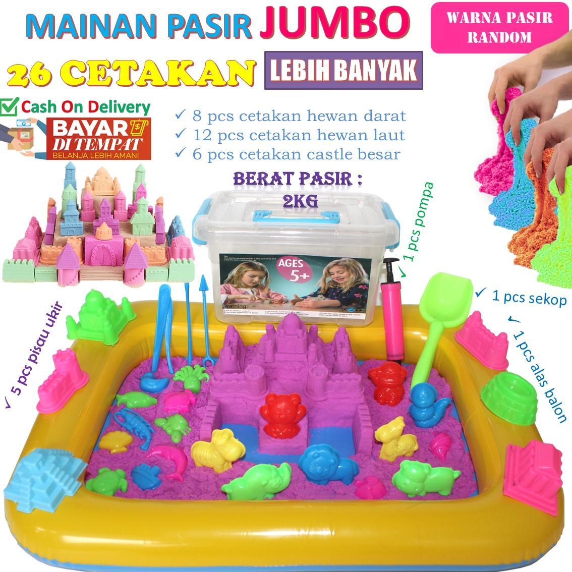 17275 barang ditemukan dalam Mainan Bentuk   Warna. Mainan Pasir Ajaib  Magic Sand Paket Lengkap 2Kg JUMBO 5982c5bc71
