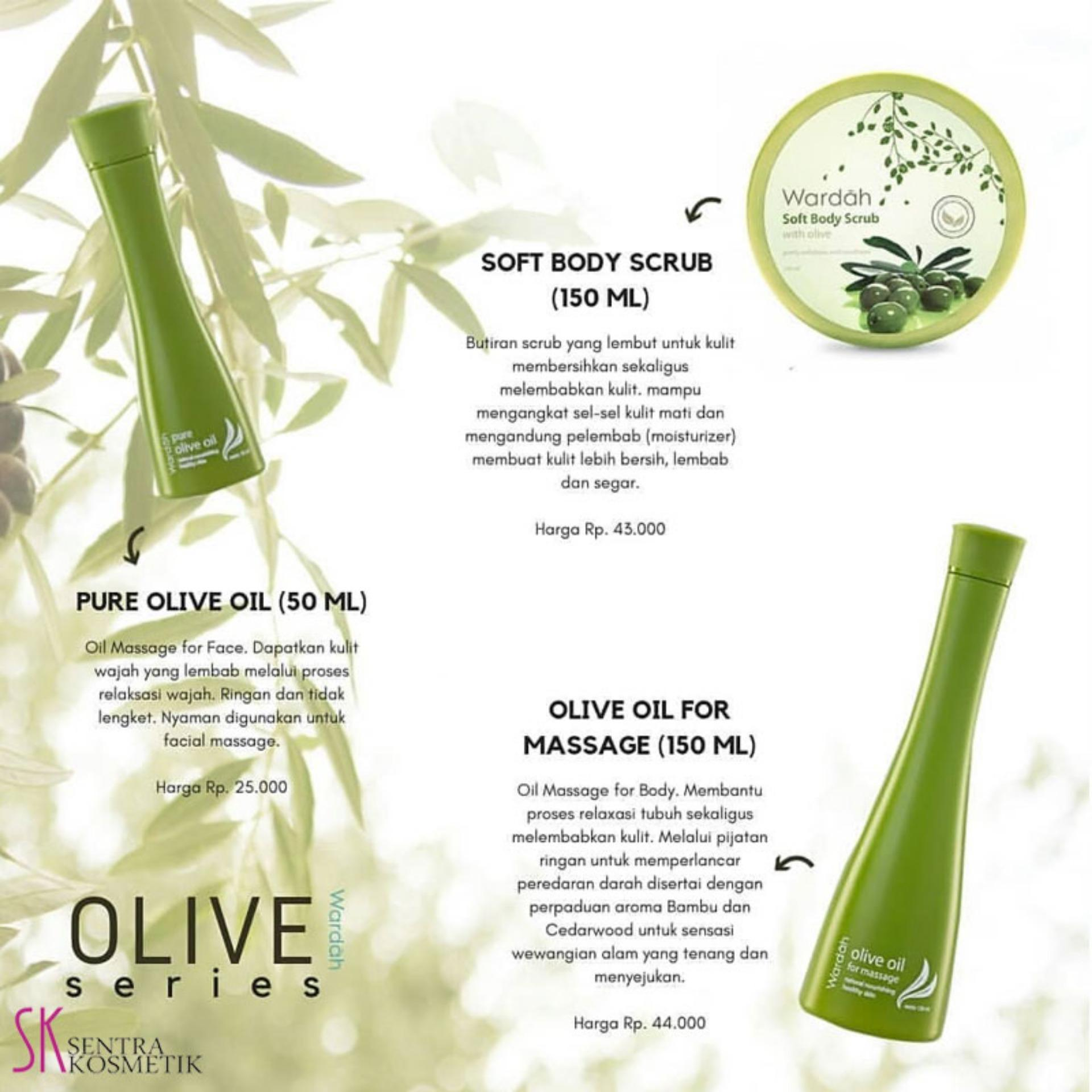 Wardah Pure Olive Oil 50 Ml Minyak Zaitun Wardah Lazada Indonesia