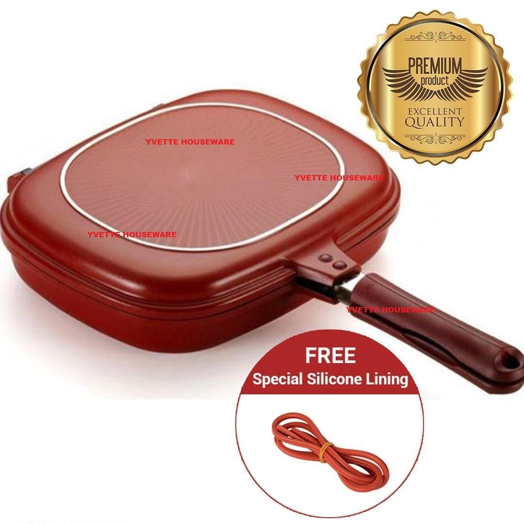 [promo] Best Seller Hc Double Pan Terbesar Diameter 32 Cm Termurah - Merah By Yvette Housewares.