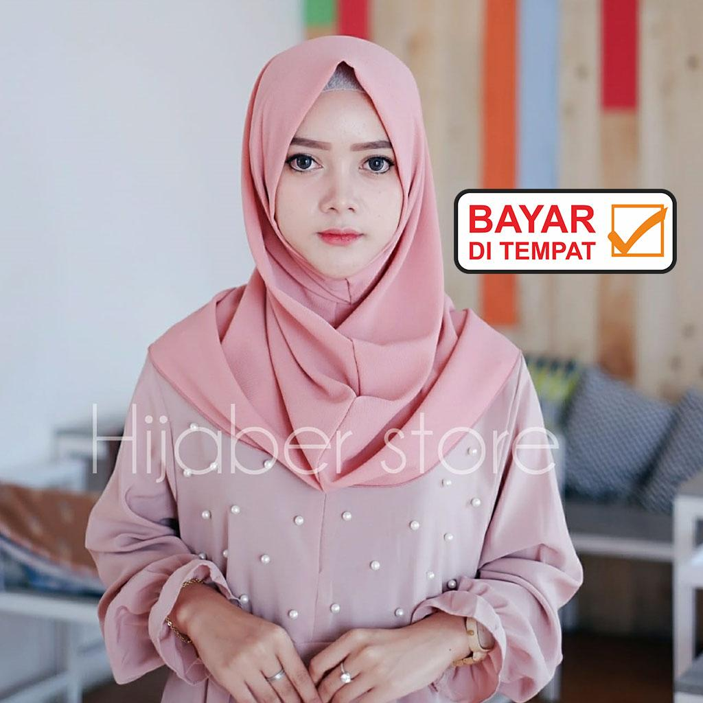 PROMO Jilbab / Hijab Instan Shalwa - Kerudung Instan Salwa Bahan Bubble Premium