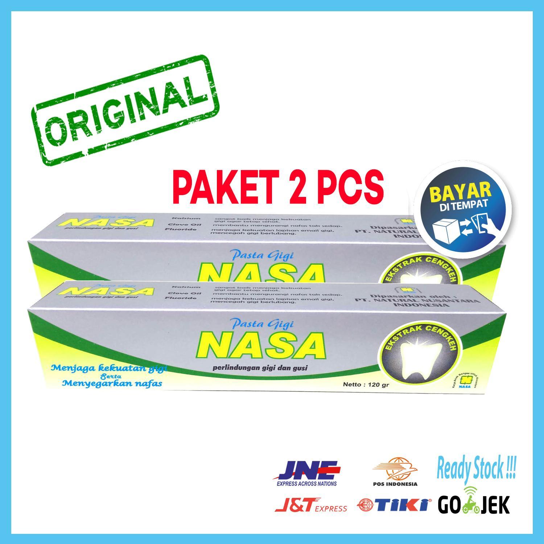 Paket 2 Pcs   Pasta Gigi NASA Odol Original 100% Sikat Gigi Herbal Dengan aac4fd900b