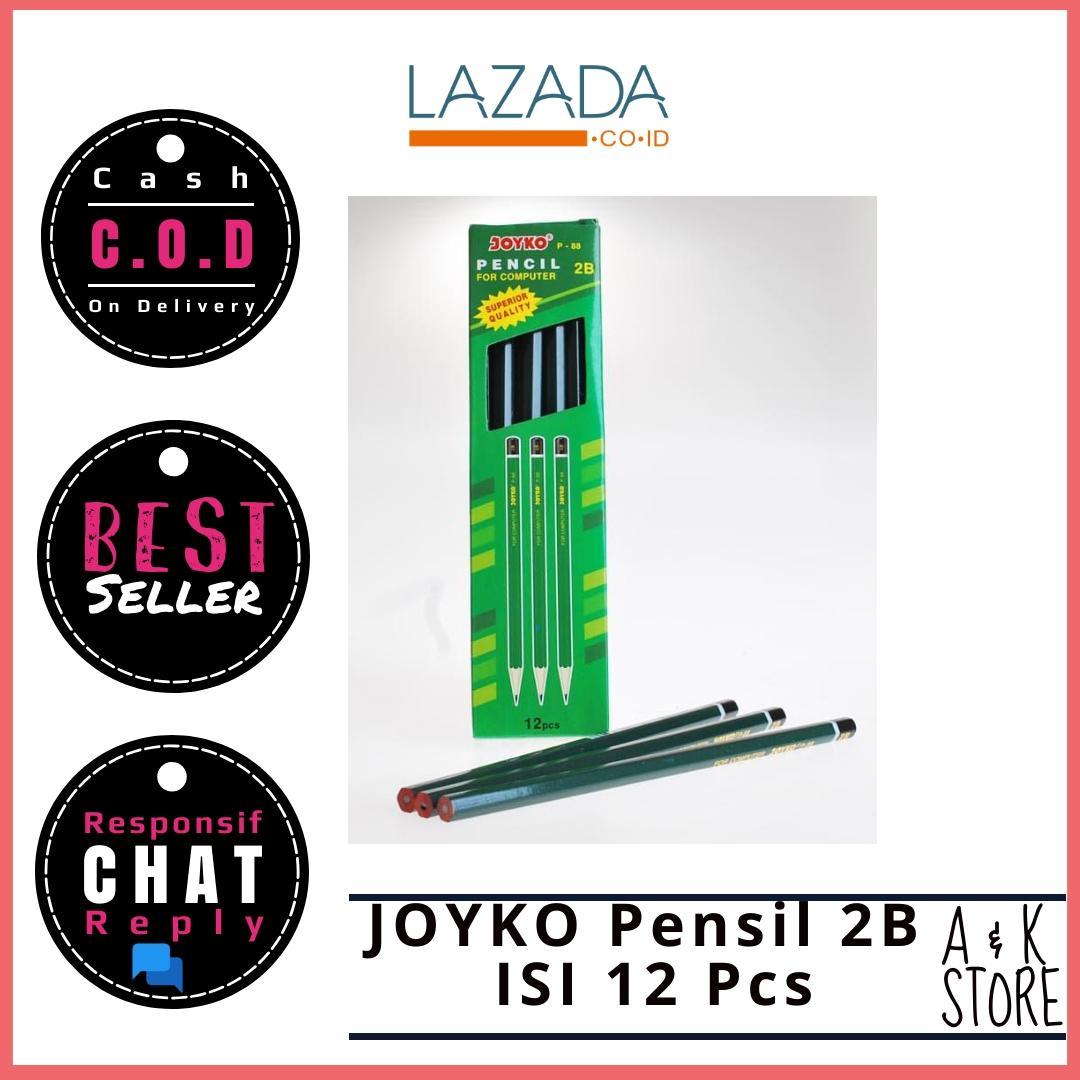 Joyko Pensil Pencil For Computer P-88 2B [1 Pak/12 Pcs] A & K Store
