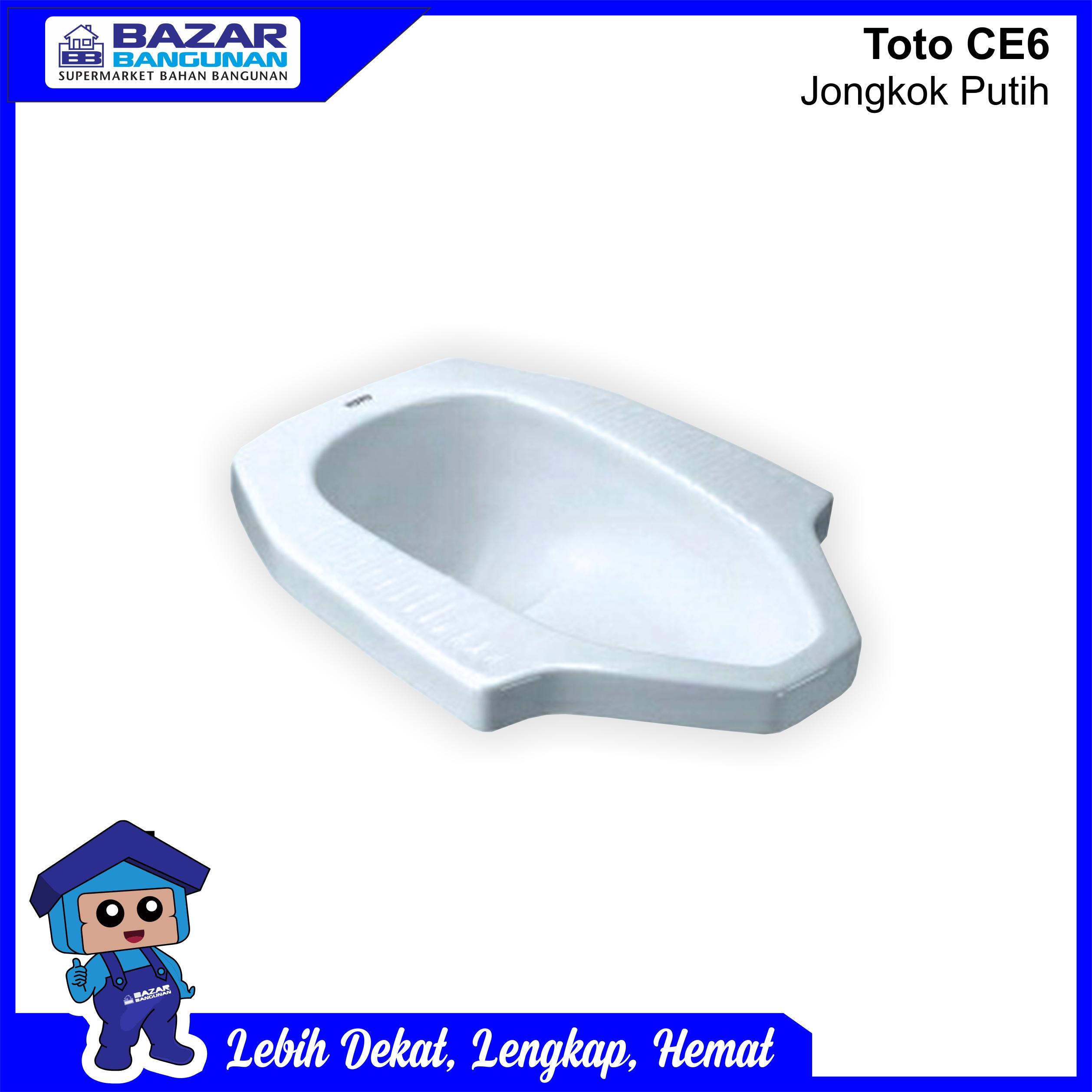 Closet Kloset Jongkok Toilet Squat Toto Ce 6 Ce6 White Putih Lazada Indonesia Harga closet jongkok toto