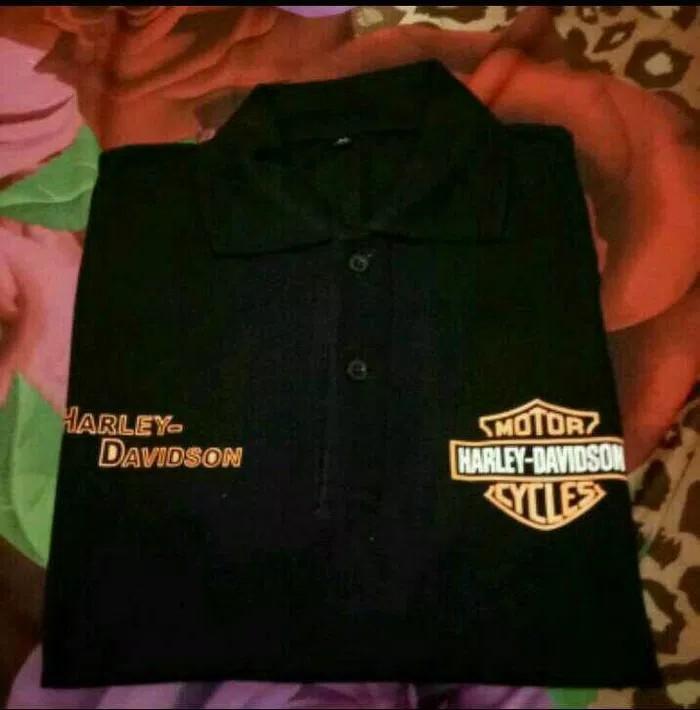 Kaos Lengan Pendek Polo Shirt Harley Davidson