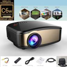Proyektor Cheerlux C6 LED Projektor Mini Wifi + TV Tuner Wifi Tanpa Kabel HDMI TV AV USB SC Card Slot Tahan Lama Terlaris Infokus Proyektor Tercanggih