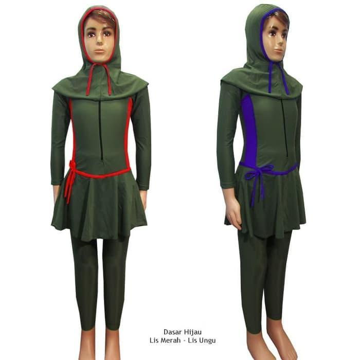 Baju Renang Anak Muslim 3-6 Tahun Polos Tali