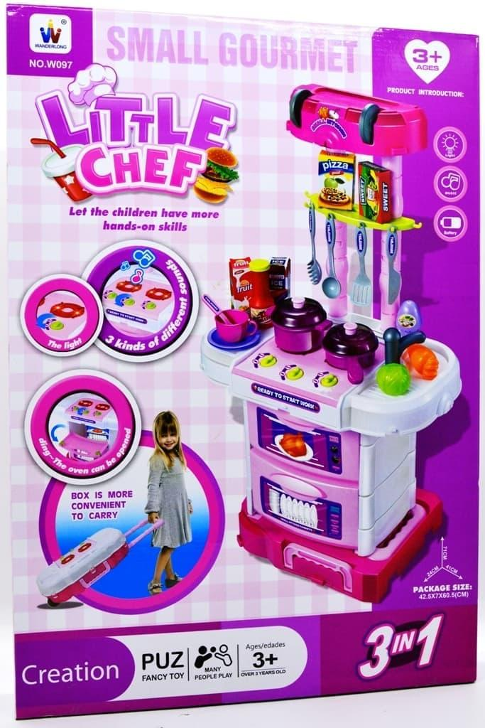 Promo   LITTLE CHEF KITCHEN SET KOPER 3IN1 PINK MAINAN ANAK PEREMPUAN KENA 3KG   Termurah