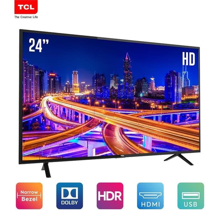 LED TV TCL 24 Inch L24D310 USB Movie, HDMI Garansi Resmi