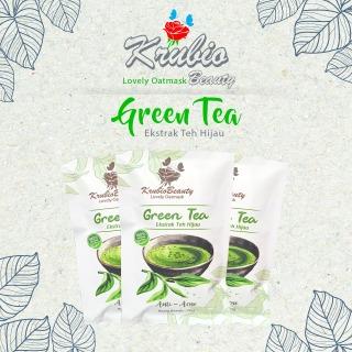 Krubio Beauty Lovely Oatmask Green Tea Masker Extrak Teh Hijau Anti Acne Anti Jerawat thumbnail