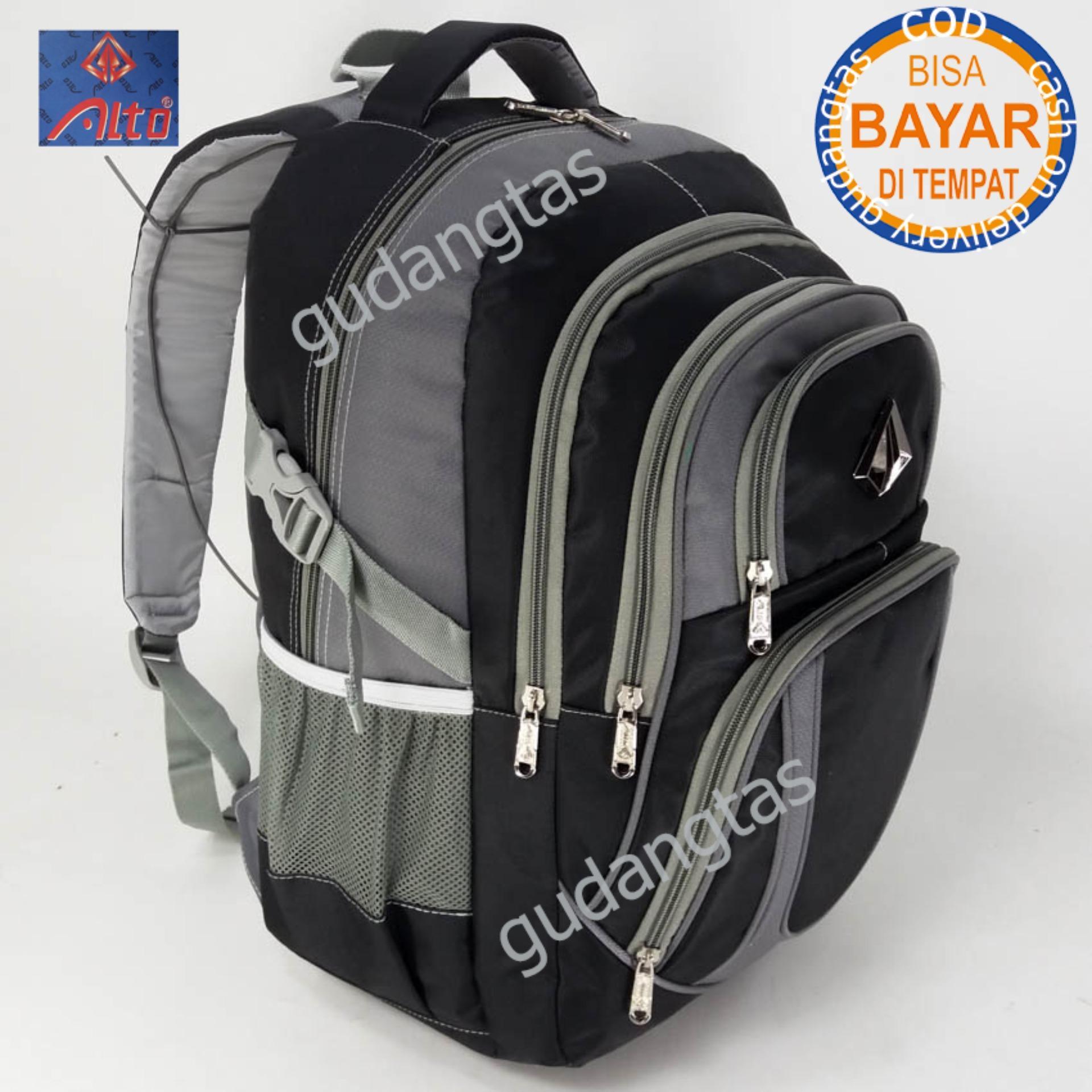 Alto Backpack Super Tas Sekolah  76781 Ransel Laptop HITAM + Raincover