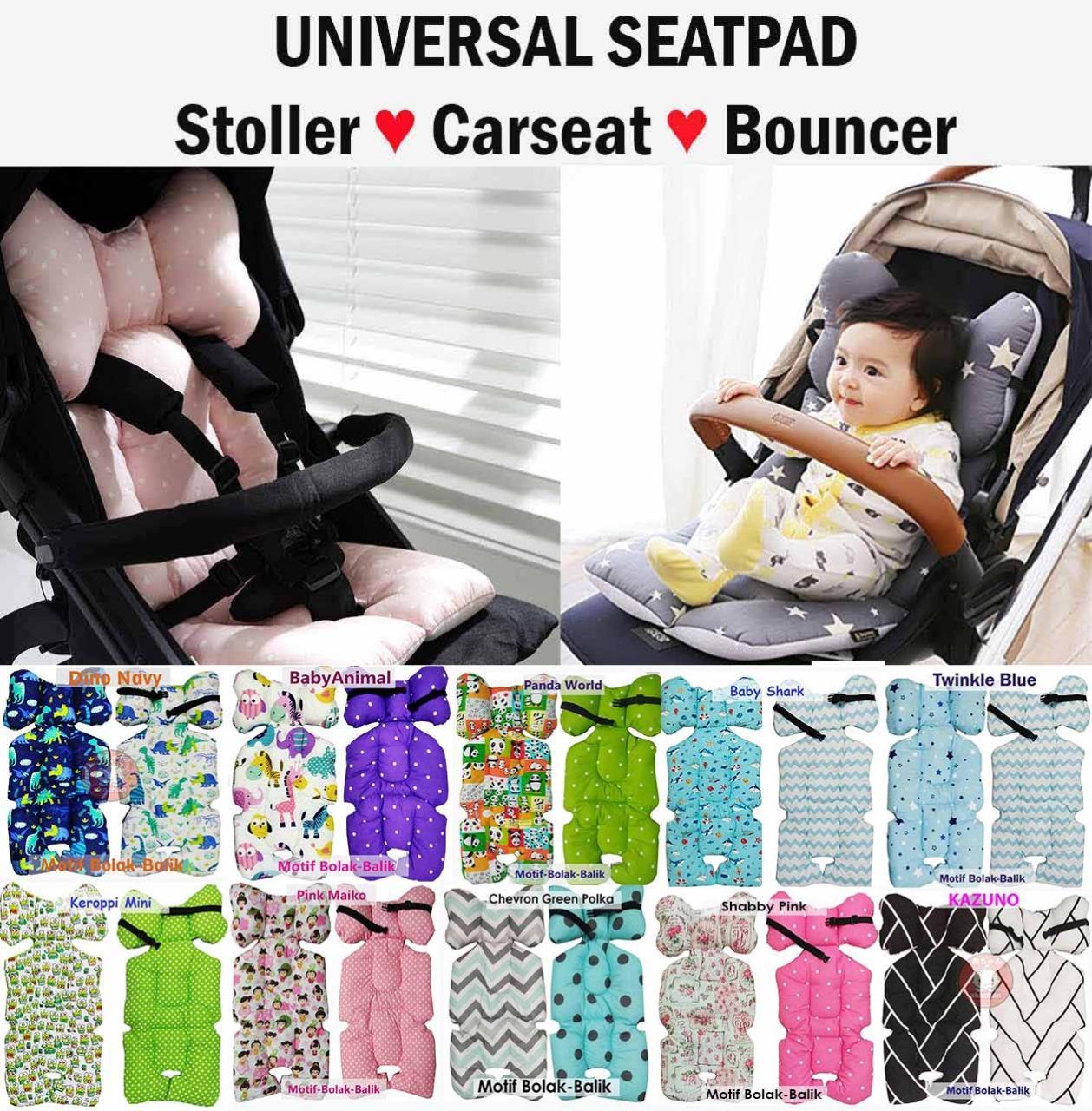 Universal Alas Stroller Pad Stroler Carseat Bouncer Akachan Kereta Dorong Seatpad Borny Liner Car Seat Highchair High Chair By Little Diva.