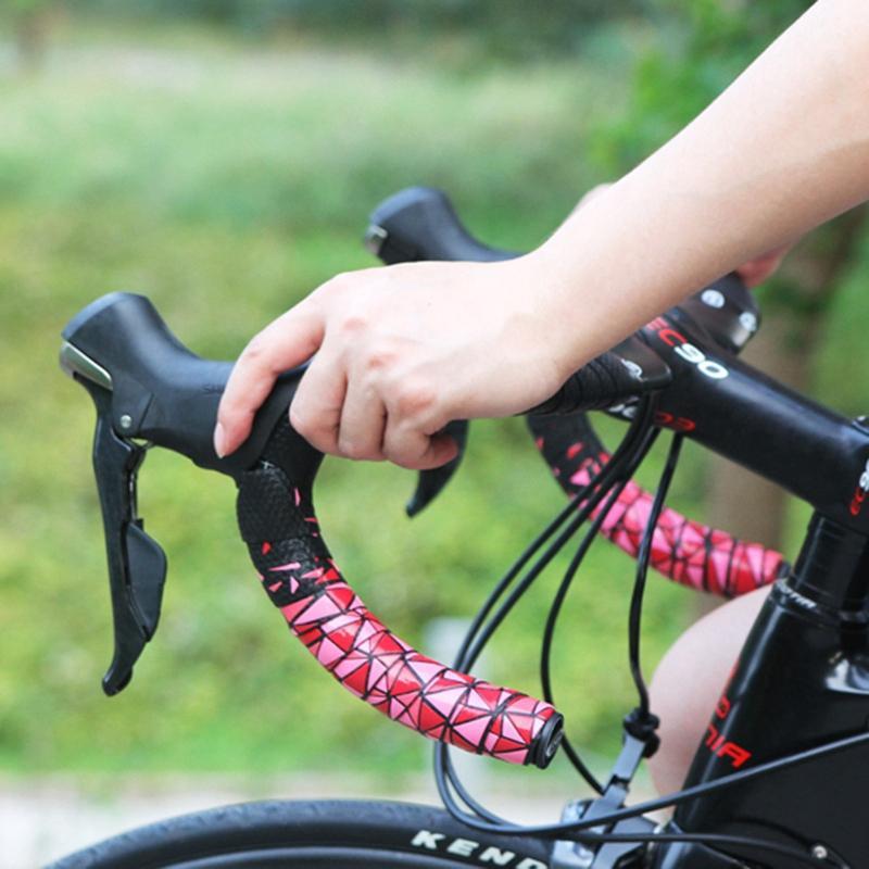 Handlebar Tape Bicycle Road Bike CX Cork Grip Wrap Ribbon Tape /& Bar Plug WHITE