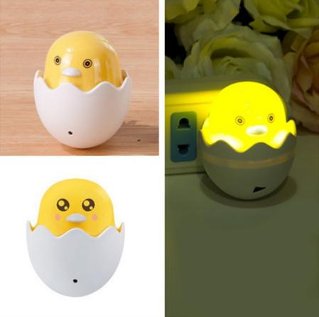 ATHA PROMO !!! Lampu Tidur LED Sensor Cahaya Hemat Energi Energy Lampu Malam Egg Telur Ayam bebek Lampu Kamar Anak - COD