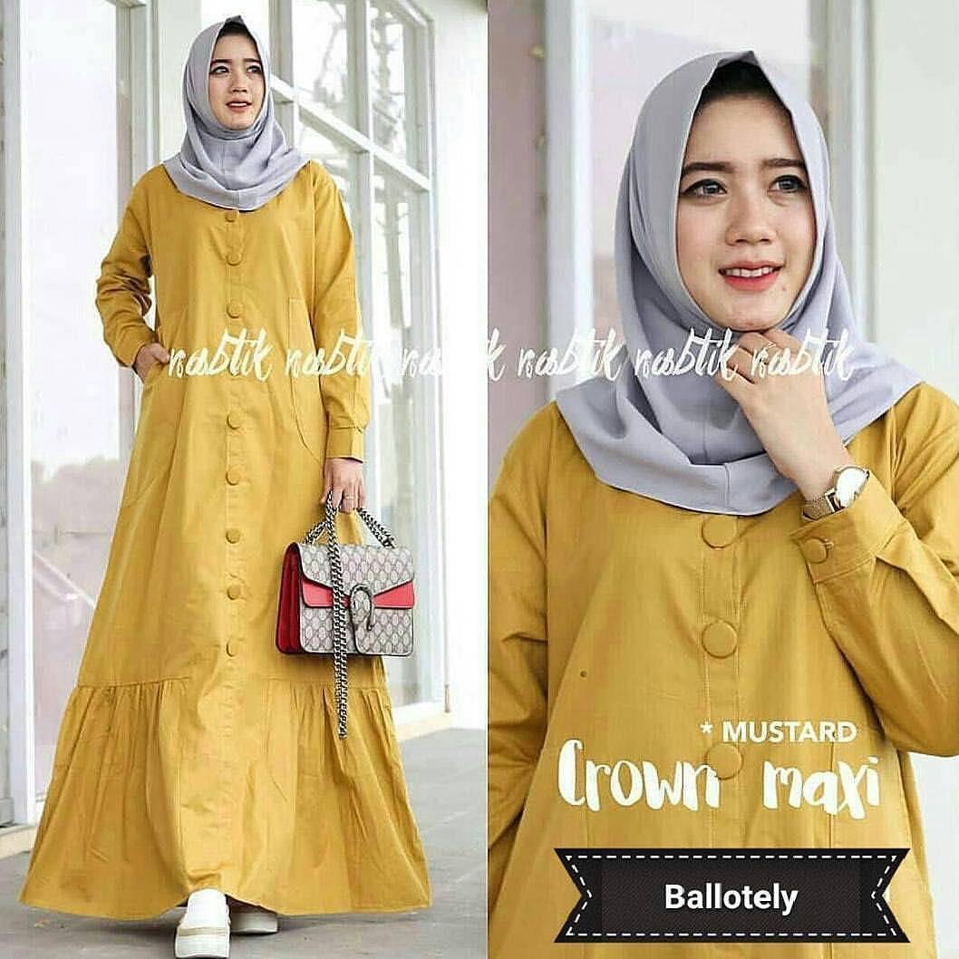 Farada Gamis Terbaru Gamis Wanita Gamis Syari Dress Wanita Muslim Murah - CROWN DRESS
