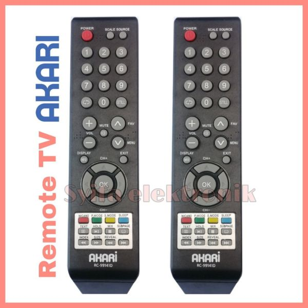 Remote TV LED AKARI G R A D E Original