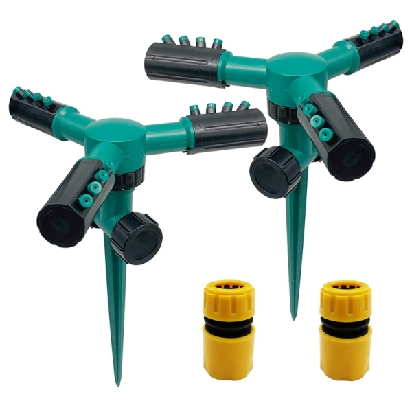 Giá 2 Pack 360 degree Rotating with Adjustable Nozzle Lawn Sprinkler ,Watering System for Large Area Lawn, Nursery Grass
