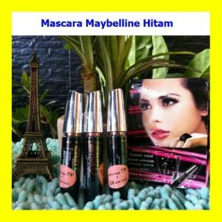 Maybel-line Volume Express Hypercurl Mascara Black - MASKARA MAYBELLINE VOLUM EXPRESS - WATERPROFF MASCARA MAYBELINE- LONG LASTING TAHAN LAMA WATERPROOF BISA COD ATAU BAYAR DITEMPAT thumbnail