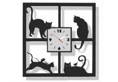 Tiktokbox Jam Dinding Mwcs Cat