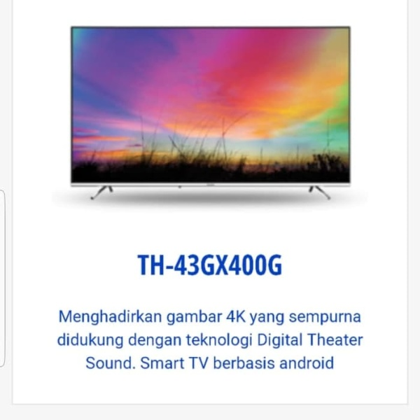 [GRATIS ONGKIR - SURABAYA] Miami Elektronik - Smart TV Panasonic LED TV Panasonic UHD 43inch Th43gx400