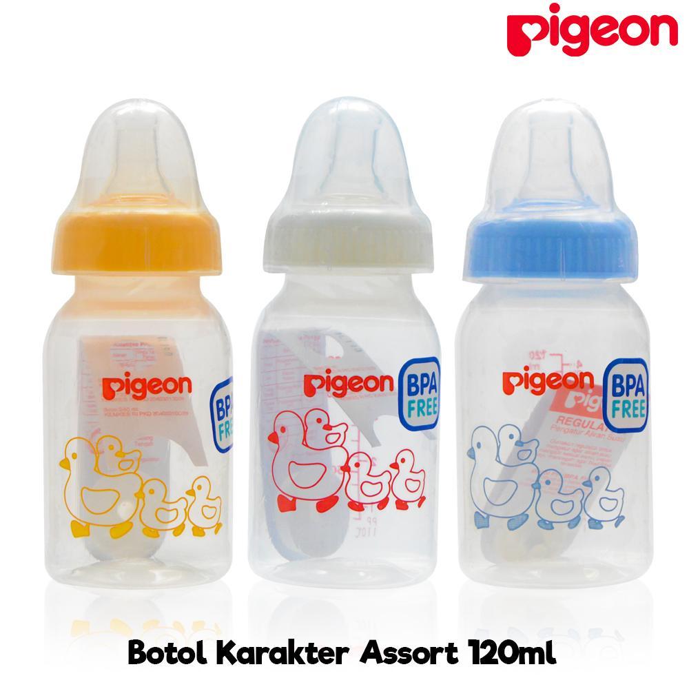 Pigeon Botol Susu Assort Bayi 120 ml - Itik Biru + Gratis Regulator Anti Sedak |