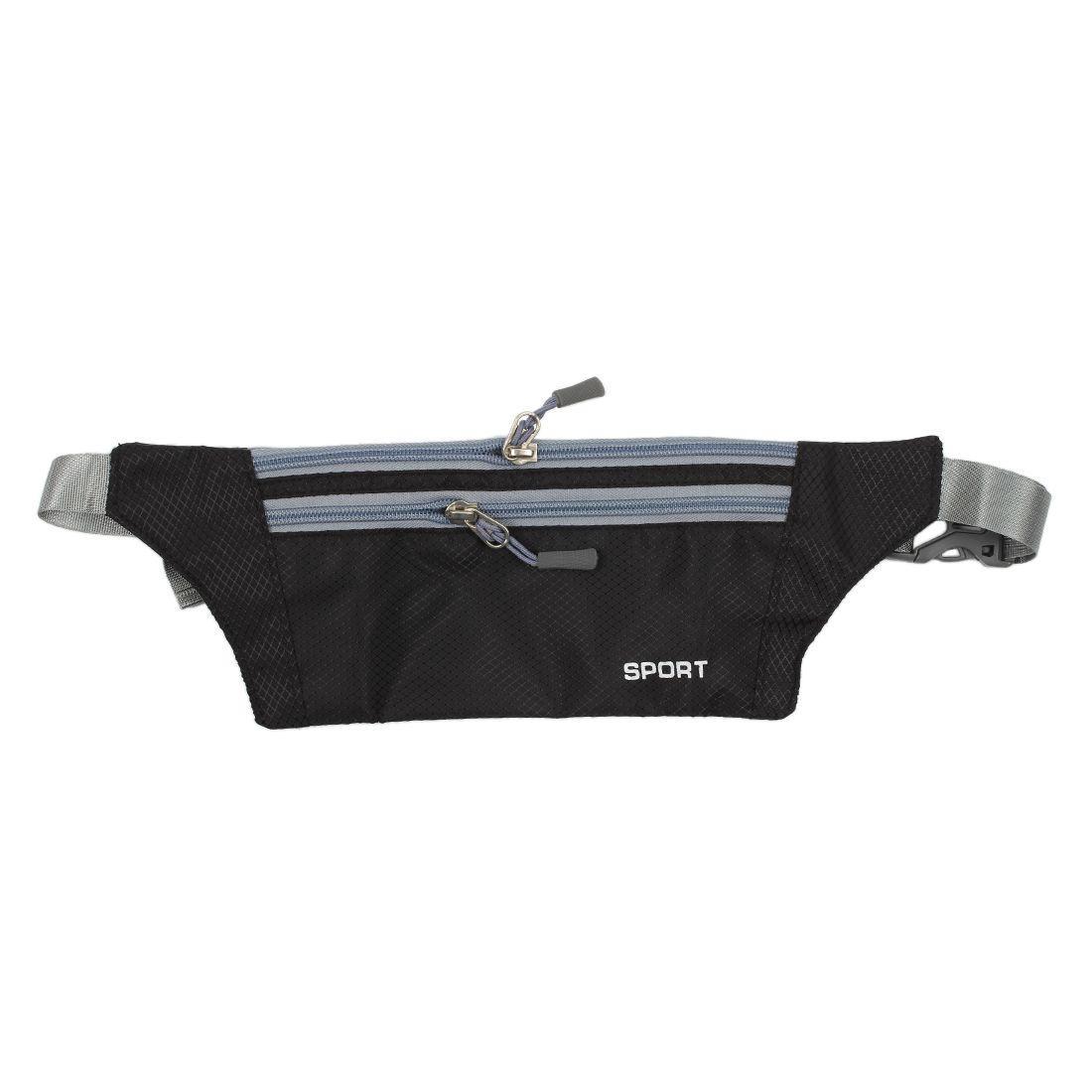 Unisex Running Bum Bag Travel Handy Hiking Sport Fanny Pack Waist Belt Zip Pouch Black By Sunnny2015.