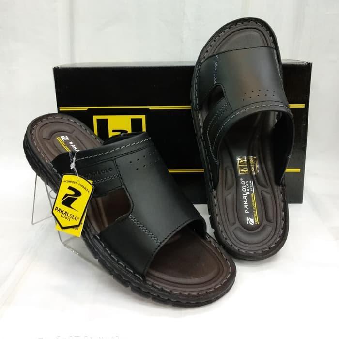 Sandal Kulit Pakalolo N0725 - Black