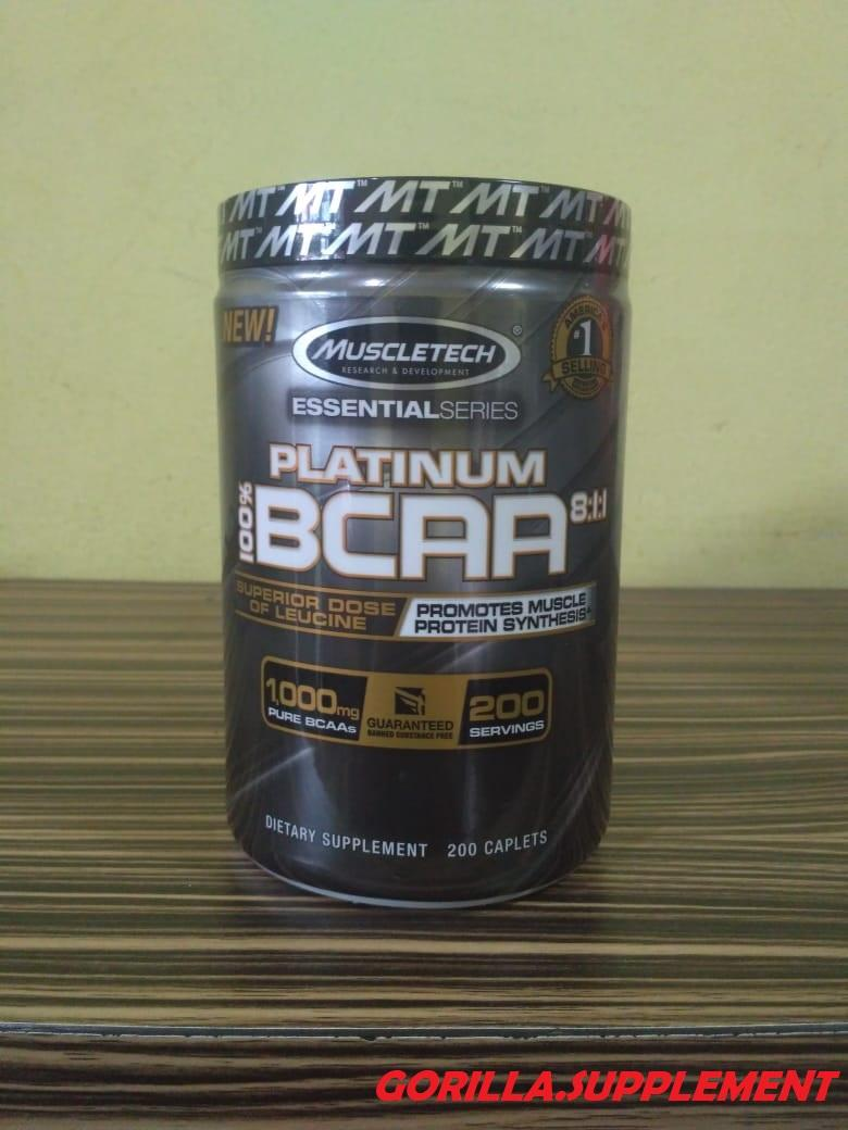 Muscletech Platinum BCAA 8:1:1 Essential Series 200 Tabs