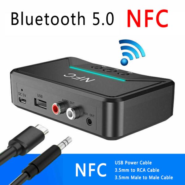 Bảng giá Bộ Thu Bluetooth 5.0 Không Dây Highmax, Bộ Chuyển Đổi Âm Thanh Stereo HiFi AUX 3.5Mm Cho Loa Xe Hơi Bộ Thu Âm Thanh BT200 NFC Bluetooth 5.0 Loa Xe Hơi Âm Thanh AUX RCA Phong Vũ
